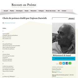 Mohammed Al-Asaad - Choix de poèmes établi par Najwan Darwich