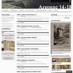 Les combats de l'Argonne en 14-18