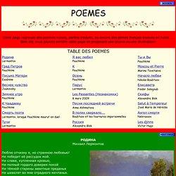 Poèmes russes ou traduits en russe