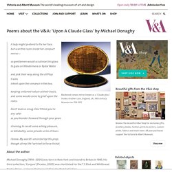 Poems about the V&A: 'Upon A Claude Glass' by Michael Donaghy