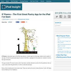 iF Poems – The First Great Poetry App for the iPad I've Seen