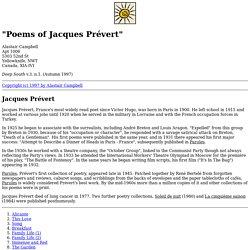"""""""Poems of Jacques Prévert"""""""