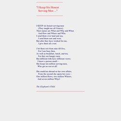 Poems - Six honest serving men