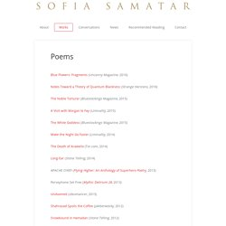 Poems – Sofia Samatar