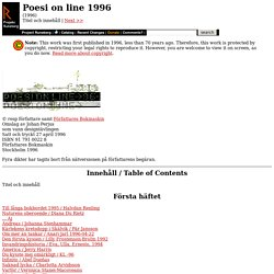 Poesi on line 1996