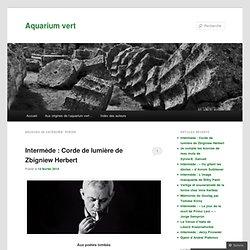 Aquarium vert