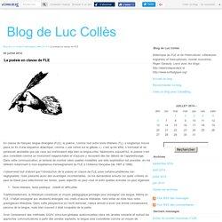 La poésie en classe de FLE - Blog de Luc Collès