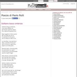 Solitario bosco ombroso,raccolta: poetici componimenti (Paolo Rolli)