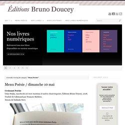 Menu Poésie : Bruno Doucey lit des poèmes