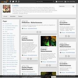 La Poésie de Raharimanana - i-voix-net, Blog de lecture et écriture de Lycées