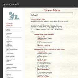 Poésie sibérienne chez Alidades