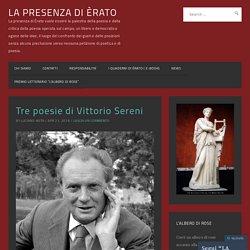 Tre poesie di Vittorio Sereni