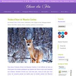 Poésies d'hiver de Maurice Carême