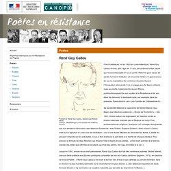 René Guy Cadou-Poètes en résistance-Réseau Canopé