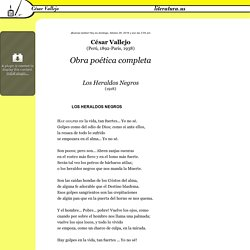 Obra poética completa, César Vallejo (Perú, 1892-Paris, 1938)