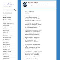 Art poétique, poème de Paul Verlaine