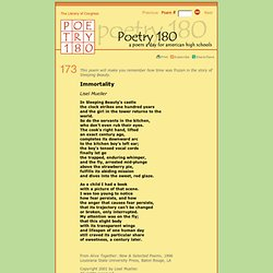 Poetry 180 - Immortality