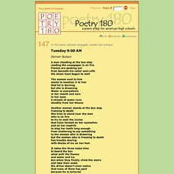Poetry 180 - Tuesday 9:00 AM