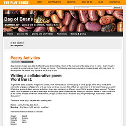 Poetry Activities — Bag of Beans
