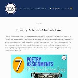 7 Poetry Activities Students Love