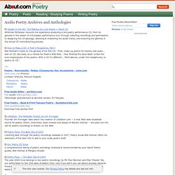 Audio Poetry Archives and Anthologies