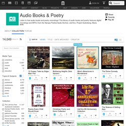 Audio Books & Poetry : Free Audio : Download & Streaming