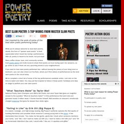 Slam Poetry Examples – How to Write a Slam Poem