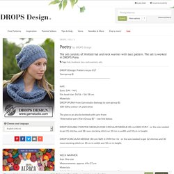 Poetry / DROPS 182-3 - Free knitting patterns by DROPS Design