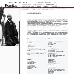 Poetry of Komitas