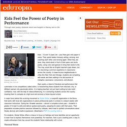 Kids Feel the Power of Poetry in Performance