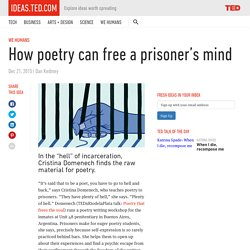 How poetry can rehabilitate prisoners