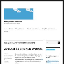 SLAM POETRY/SPOKEN WORD