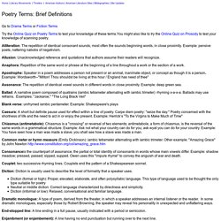 Poetry Terms: 40 Brief Definitions