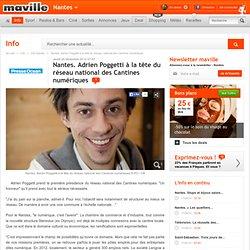 Adrien Poggetti à la tête du réseau national des Cantines numériques