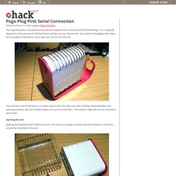 Pogo Plug Pink Serial Connection - hack247