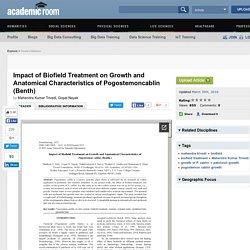 P. Cablin Anatomical Characteristics