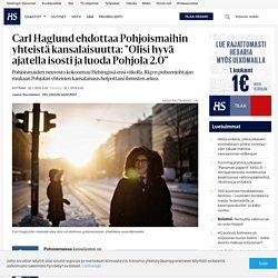 """Carl Haglund ehdottaa Pohjoismaihin yhteistä kansalaisuutta: """"Olisi hyvä ajat..."""