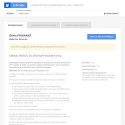 Olivia POIGNANT - Médecine Générale - 34000 - Montpellier - 1clic1doc