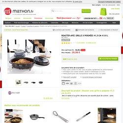 Roaster avec grille à poignées 41,5 cm 4 à 8 L Mathon - Cocottes et roasters - Cuisson