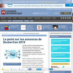 annonces de DockerCon 2015 / standardisation , offre commercial ,vm ->containers