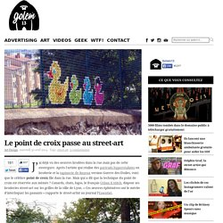 Le point de croix passe au street-art