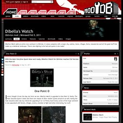 One Point O news - Dibella's Watch Mod for Oblivion