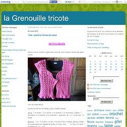 Tuto : point en forme de coeur - la Grenouille tricote