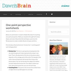 One-point perspective worksheets - Dawn's Brain