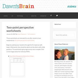 Two-point perspective worksheets - Dawn's Brain