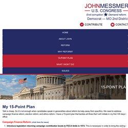 15-Point Plan - John Messmer for Congress