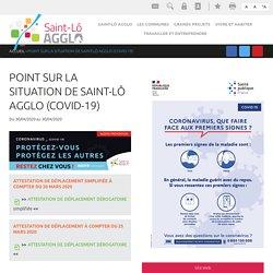 point sur la situation de Saint-Lô Agglo (COVID-19)