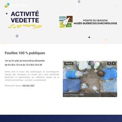 AV Pointe-du-Buisson - Mois de l'archéologie 2019