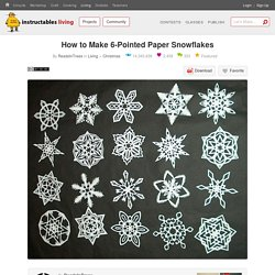 How to Make 6-Pointed Paper Snowflakes: 11 Steps