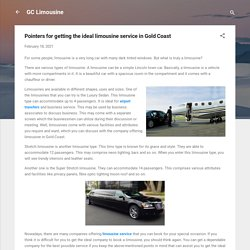 Pointers for getting the ideal limousine service in Gold Coast